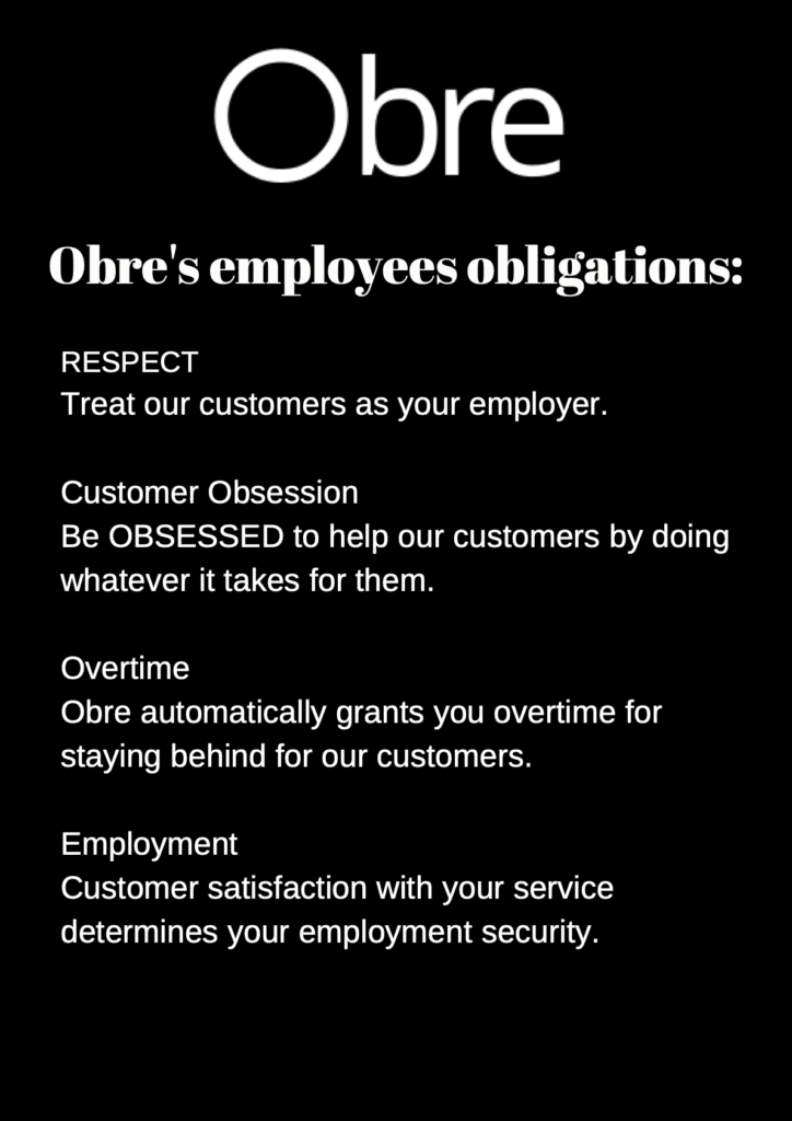 Obre employee obligations